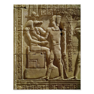 Relief of Sobek and Ptolemy VI Philometor Posters