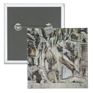 Relief of the Apotheosis of Emperor Antoninus 2 Inch Square Button