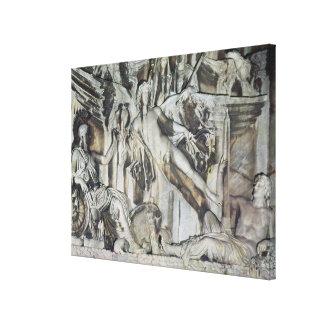 Relief of the Apotheosis of Emperor Antoninus Canvas Print