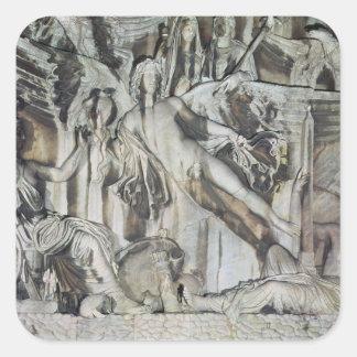 Relief of the Apotheosis of Emperor Antoninus Square Sticker