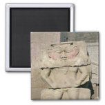 Relief of the Egyptian household god, Bes 2 Inch Square Magnet