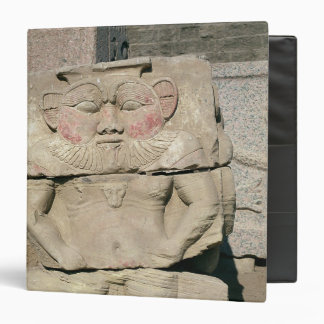 Relief of the Egyptian household god Bes 3 Ring Binder