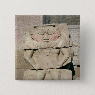 Relief of the Egyptian household god, Bes Button