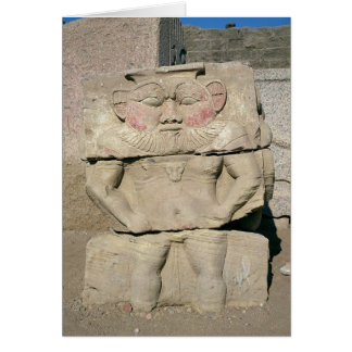 Relief of the Egyptian household god, Bes Card