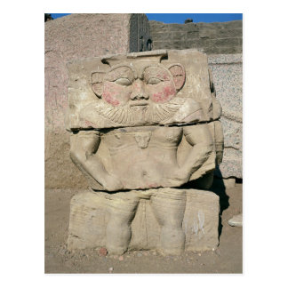 Relief of the Egyptian household god, Bes Postcard