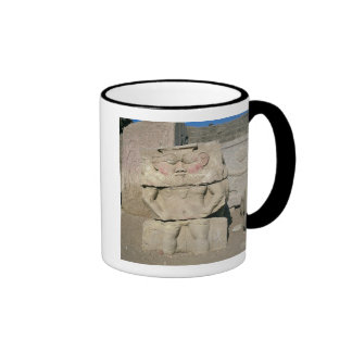 Relief of the Egyptian household god, Bes Ringer Mug