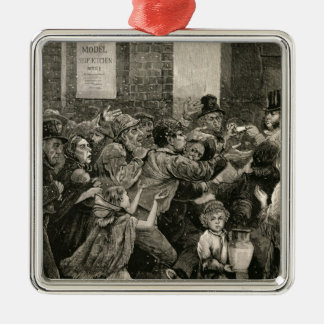 Relief of the Unemployed in London Metal Ornament