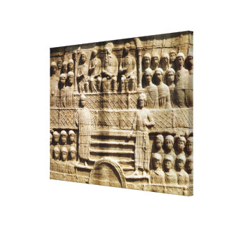 Relief on the base of the Obelisk of Theodosius Canvas Print