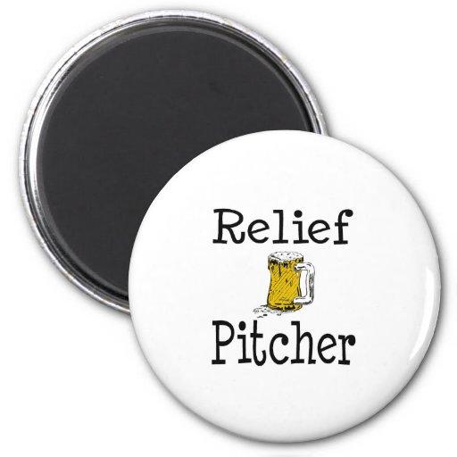 Relief Pitcher 2 Inch Round Magnet