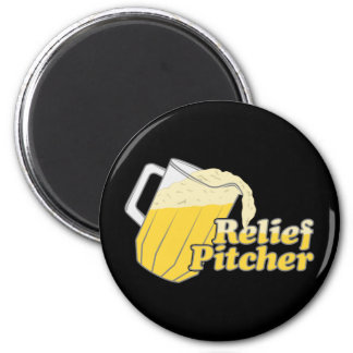 Relief Pitcher Beer Baseball Refrigerator Magnets