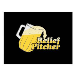 Relief Pitcher Beer Baseball Postcard