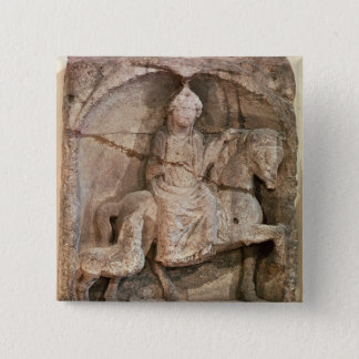 Relief representing Epona, Gaulish goddess Pinback Button