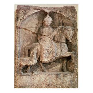Relief representing Epona, Gaulish goddess Postcard
