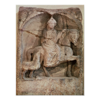 Relief representing Epona, Gaulish goddess Poster