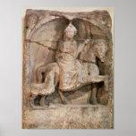 Relief representing Epona, Gaulish goddess Posters