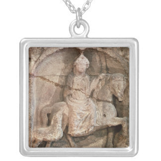 Relief representing Epona, Gaulish goddess Silver Plated Necklace
