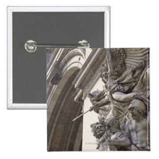 Relief sculpture on Arc de Triomphe in Paris, Button