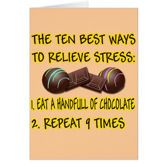 RELIEVE STRESS CARD