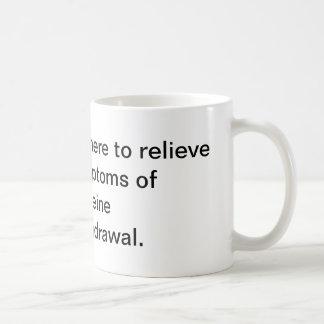 Relieve symptoms of caffeine withdrawal classic white coffee mug