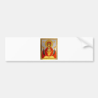 religeous icon holy mary and child bumper sticker