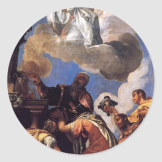 Religio and Fides (Religion and Faith) by Paolo Classic Round Sticker