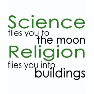 Religion and Science Atheist shirt