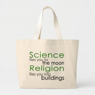 Religion and Science Large Tote Bag
