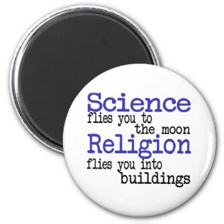 Religion and Science 2 Inch Round Magnet