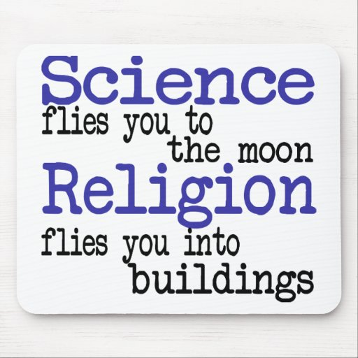Religion and Science Mouse Pad