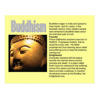 Religion,  Buddhism, Introduction Postcard