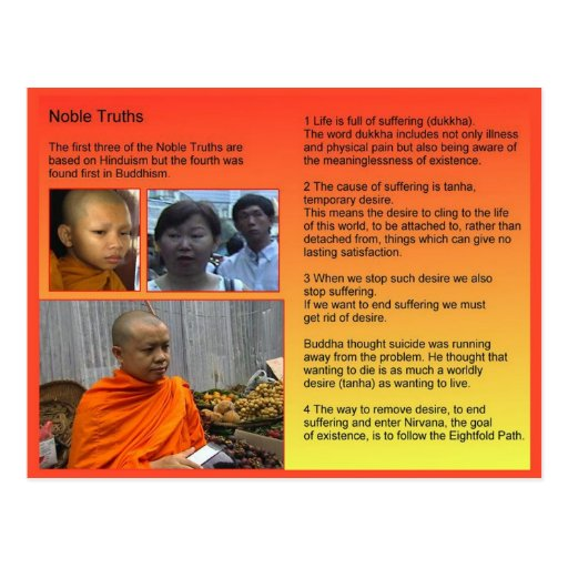 Religion, Buddhism, Noble truths Post Cards