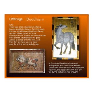Religión, Buddhism, ofrendas Tarjeta Postal