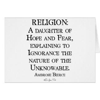 Religion by Ambrose Bierce Greeting Card