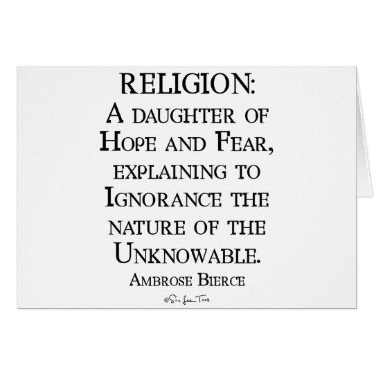 Religion by Ambrose Bierce Card