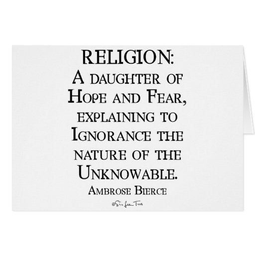 Religion by Ambrose Bierce Greeting Cards