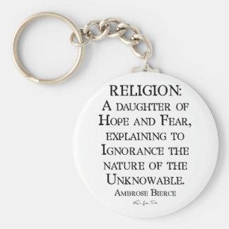 Religion by Ambrose Bierce Keychain