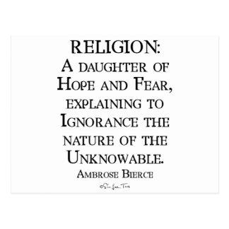 Religion by Ambrose Bierce Postcard