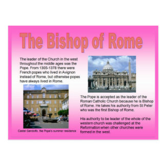 Religión, católica, obispo de Roma Tarjeta Postal