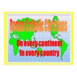 Religión, católicos romanos en cada país tarjetas postales