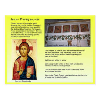 Religion, Christian, Jesus, Primary Sources Postcard