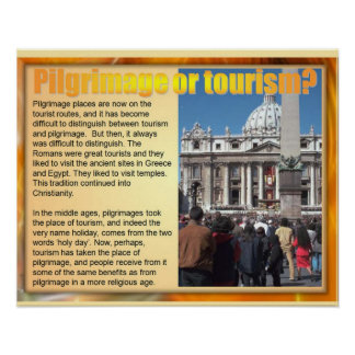 Religion Christian Pilgrimage or tourism Posters