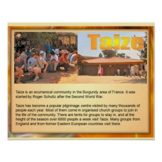 Religion Christian Pilgrimage to Taize, a Posters