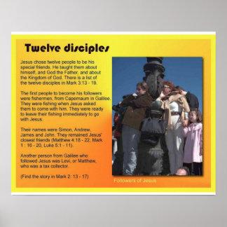 Religion, Christianity, Jesus Twelve disciples Poster