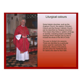 Religion,  Christianity, Liturgical colours Postcard