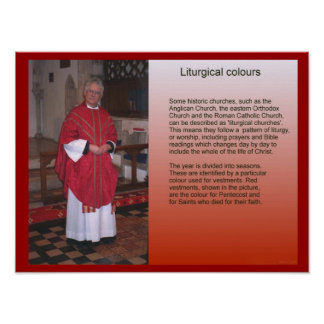 Religion,  Christianity, Liturgical colours Poster
