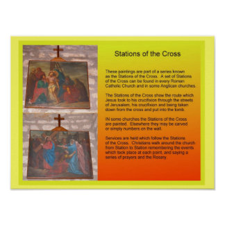 Religion,  Christianity, Stations of the Cross Poster