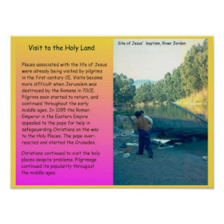 Religion,  Christianity, Visiting the Holy Land Poster