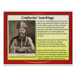Religion, Confucianism, Teachings 1 Poster