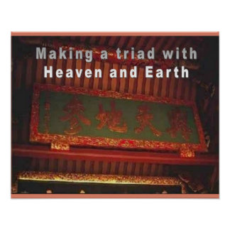 Religion Confucianism Triad of heaven and earth Print