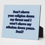Religión CONTRA el ateísmo, parte 2 Placa De Madera